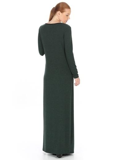 Caramel Uzun Elbise Yeşil